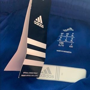 Adidas woven pant blue graphic
